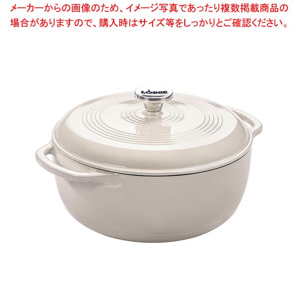 ロッジ エナメルダッチオーブン 6クォート オイスターホワイト 【厨房館】