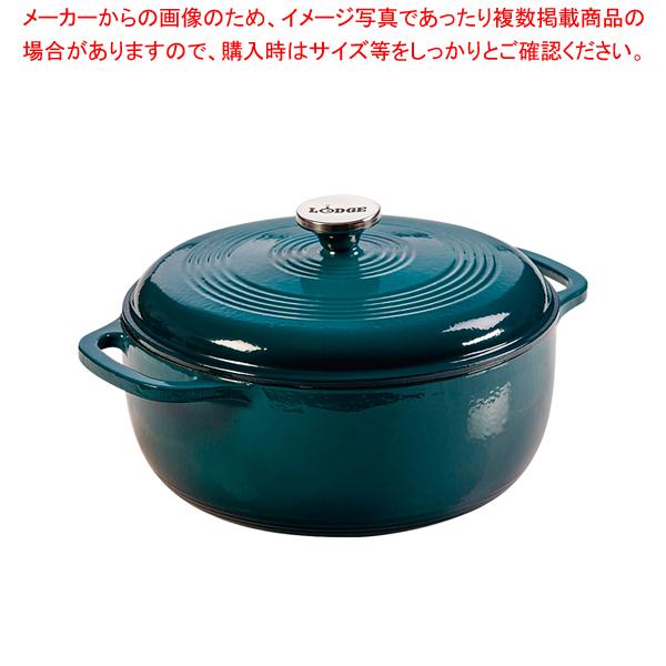 ロッジ エナメルダッチオーブン 6クォート ラグーン 【厨房館】