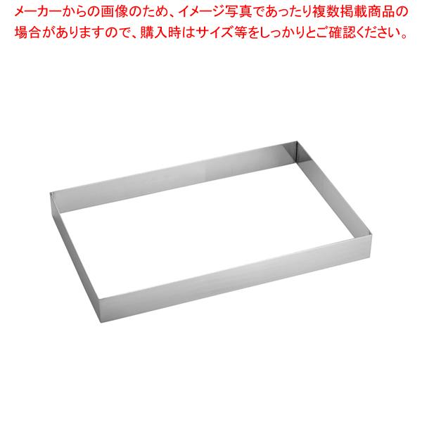 18-8角リング フレンチ H60mm【厨房館】【ケーキ型 焼き型 セルクルリング】