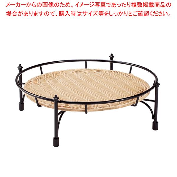 プリート 積み重ねスタンド丸 ナチュラル 低 DS514-16-NA 【厨房館】