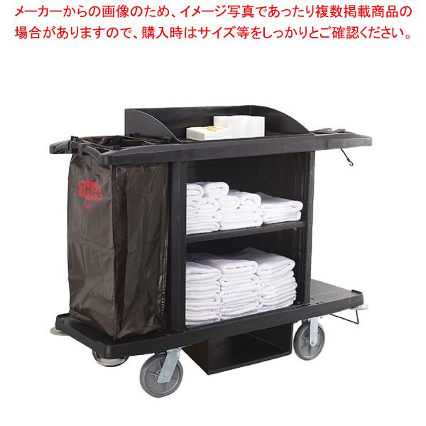 トラスト ルームメイキングカート5021 ブラック 【厨房館】