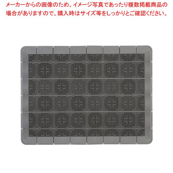 クロスハードマット 900×1200mm グレー【 玄関入口用マット 】 【厨房館】