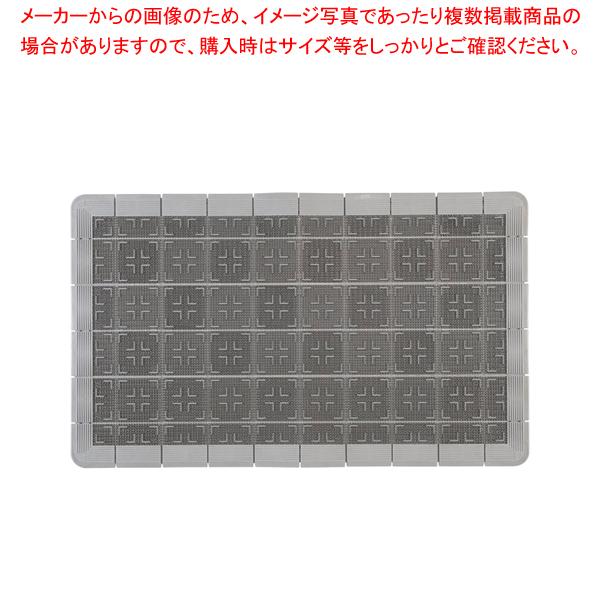 クロスハードマット 900×1500mm グレー【 玄関入口用マット 】 【厨房館】