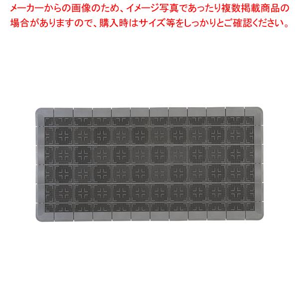 クロスハードマット 900×1800mm グレー【 玄関入口用マット 】 【厨房館】