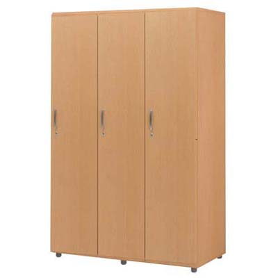 木製フリージョイントロッカー (ナチュラル) 1段3人用【厨房館】<br>【メーカー直送/代引不可】