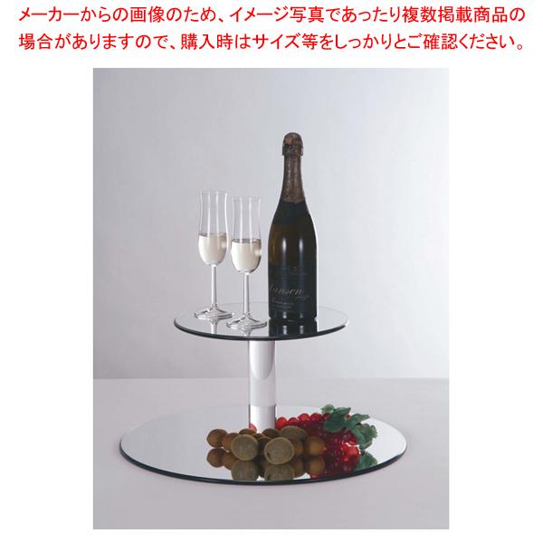 二段オードブルスタンド(ミラートレイ) 5167【ECJ】【食器 トレー トレイ 盆 飾り台 ショープレート 】