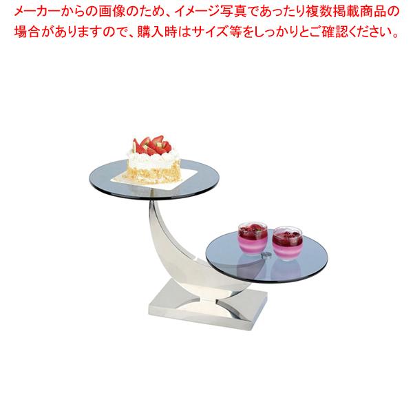KINGO2段ケーキディスプレイスタンド 【厨房館】<br>【メーカー直送/代引不可】