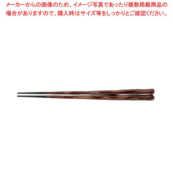 PBT六角一刀彫箸(10膳入)栃 24cm 90030864【 利便性抜群 】 【厨房館】