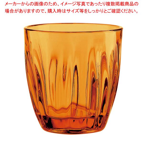 グッチーニ グラス 2496(6ヶ入) 300cc オレンジ 【厨房館】