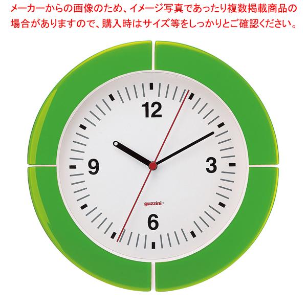 グッチーニ ウォールクロック 2895.0044 グリーン 【厨房館】