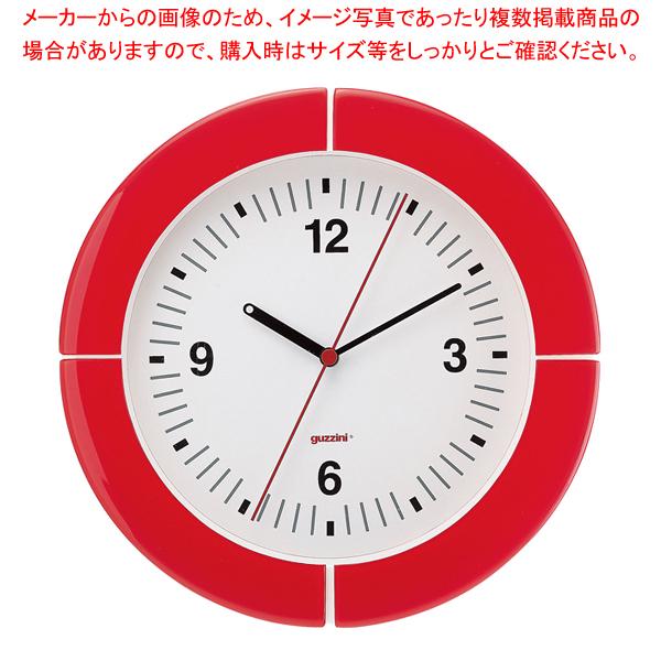 グッチーニ ウォールクロック 2895.0065 レッド 【厨房館】