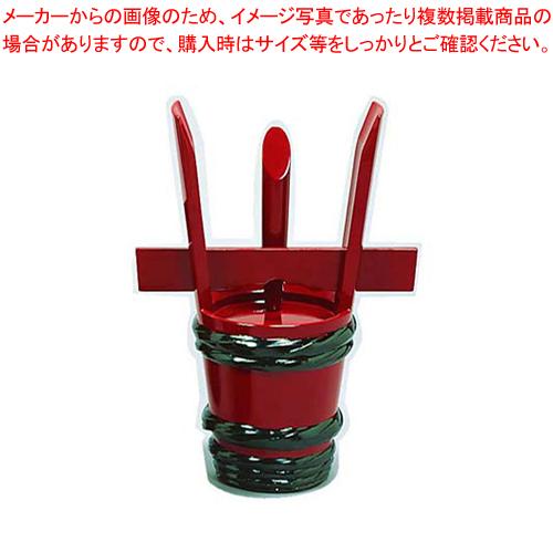 漆朱塗 祝儀桶 24cm【 メーカー直送/代引不可 】 【厨房館】