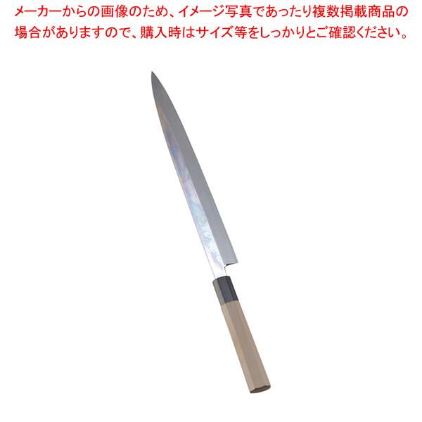 SA佐文 本焼鏡面仕上 柳刃 木製サヤ 30cm【 和包丁 柳刃 正夫 】 【厨房館】