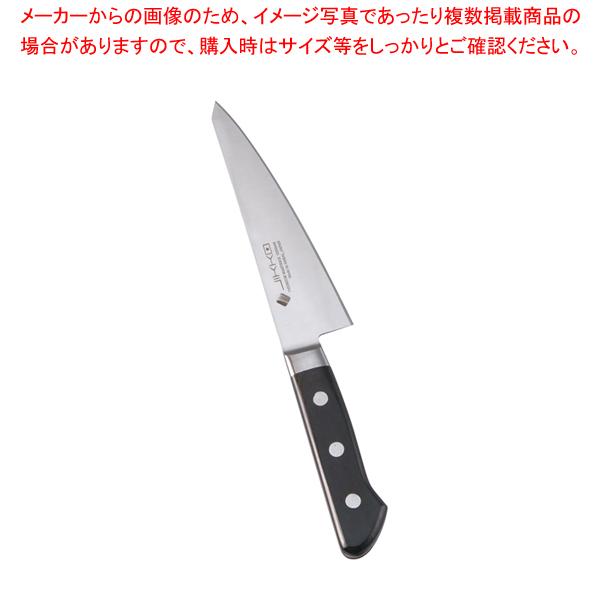 堺實光 プレミアムマスターII(ツバ付) 骨スキ 角 15cm(片刃) 【厨房館】