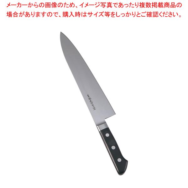 堺孝行 日本鋼(ツバ付)洋出刃 24cm 【厨房館】