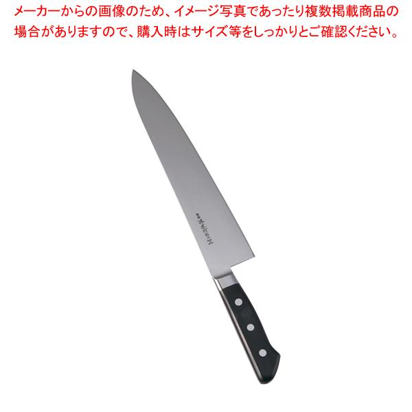 堺孝行 日本鋼(ツバ付)洋出刃 27cm 【厨房館】