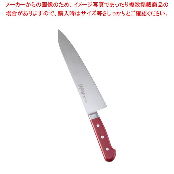 堺實光 STD抗菌PC 牛刀(両刃) 24cm 赤 56126 【厨房館】