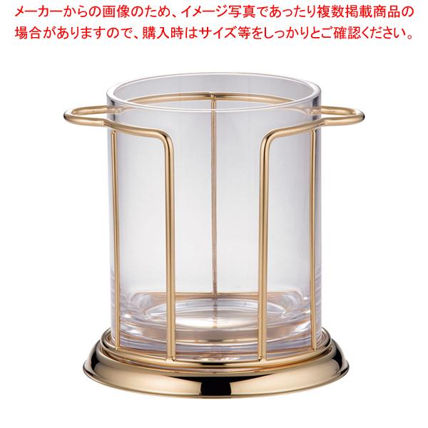 7-1734-1001 PAID401 ストレート型 アイスペール 金メッキ仕上げ 【厨房館】