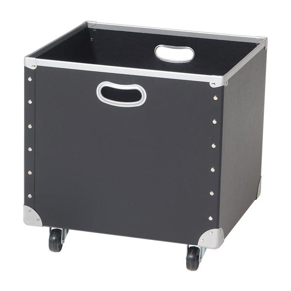 tmy-40190blk 売れ筋 キャスター付ファイバーボックス 厨房館 ブラック 正規品送料無料