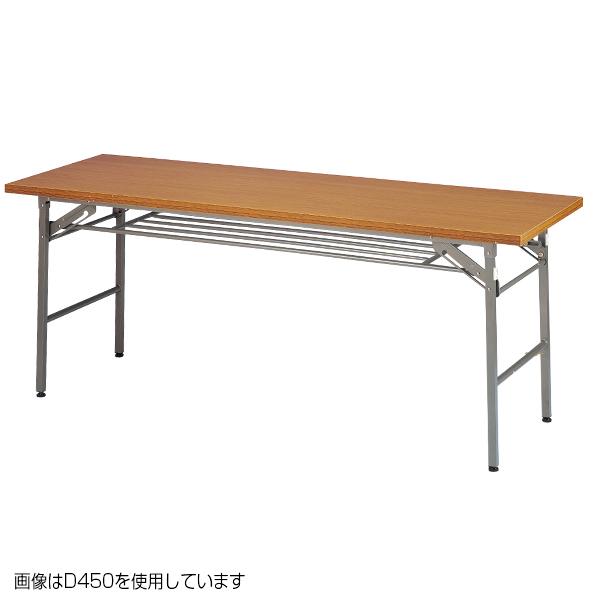 折りたたみテーブル (W1800/D450) チーク(棚付) 【厨房館】