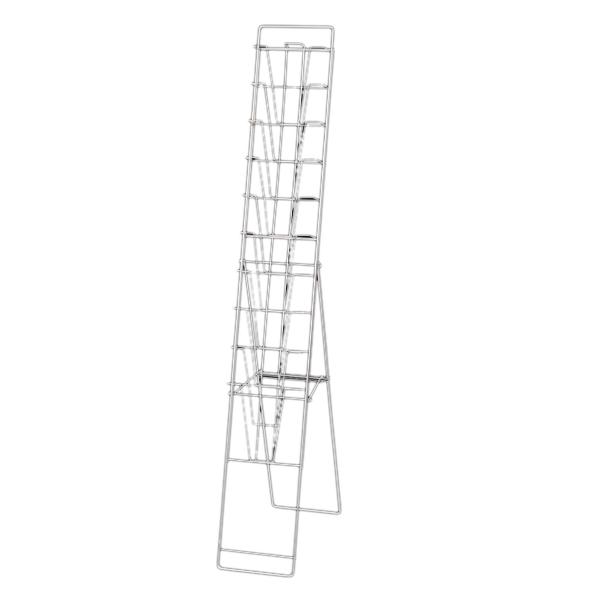 スリムパンフレットスタンドTCS-9 A4 10段 【厨房館】