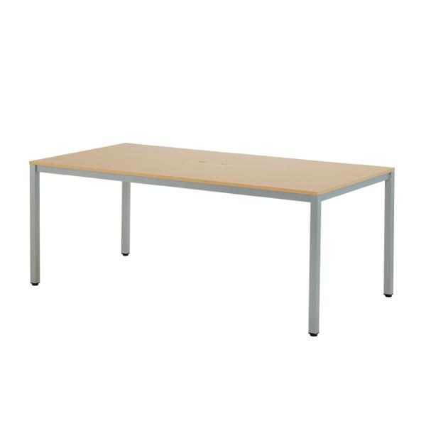 OAミーティングテーブル W1800 木目 【厨房館】