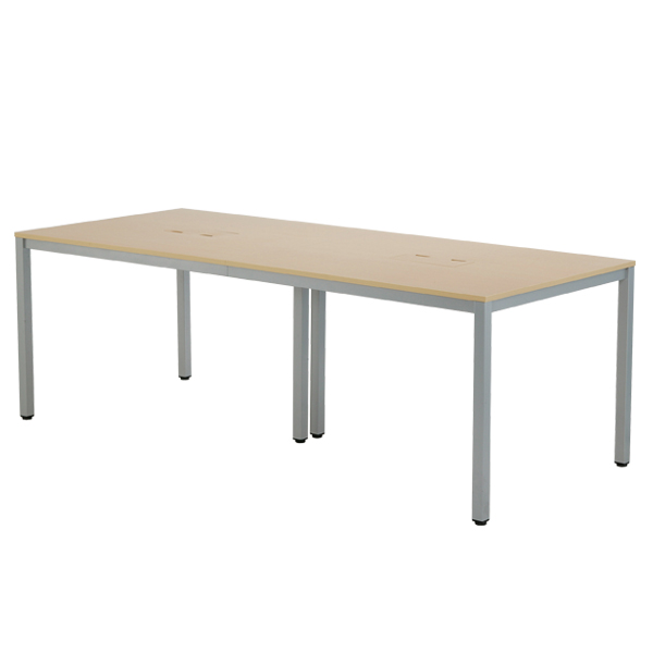 OAミーティングテーブル W2100 木目 【厨房館】