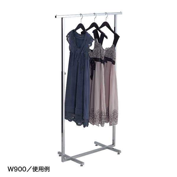 シングルハンガー クロームメッキ角パイプ W900 【厨房館】