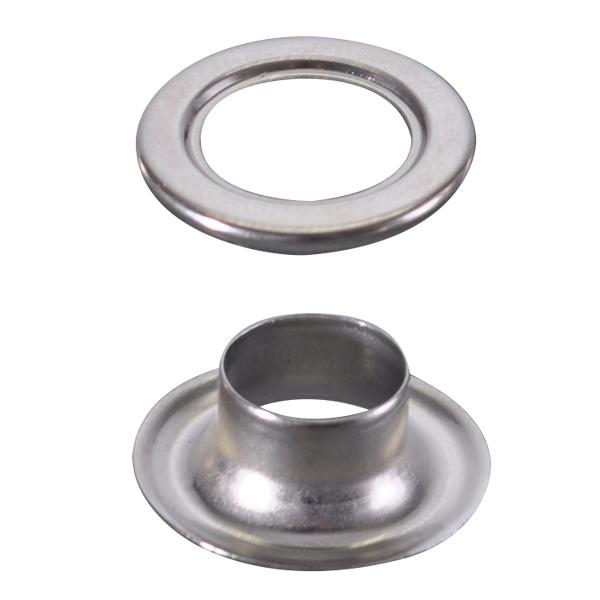 ハトメ 真鍮アイレットシルバー(2000ケ)φ10 【厨房館】