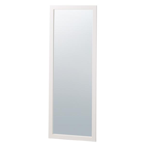木製ワイド立掛ミラー(鏡厚5mm)ホワイト 【厨房館】