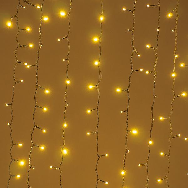 新LEDカーテンライト シャンパンゴールド 【厨房館】
