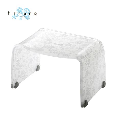 風呂椅子 バスチェアー Mサイズ フィルロ フラワー ホワイト【厨房館】
