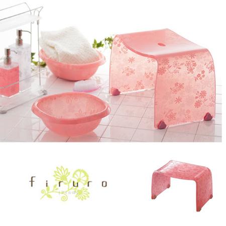 風呂椅子 バスチェアー Mサイズ フィルロ フラワー ピンク【厨房館】