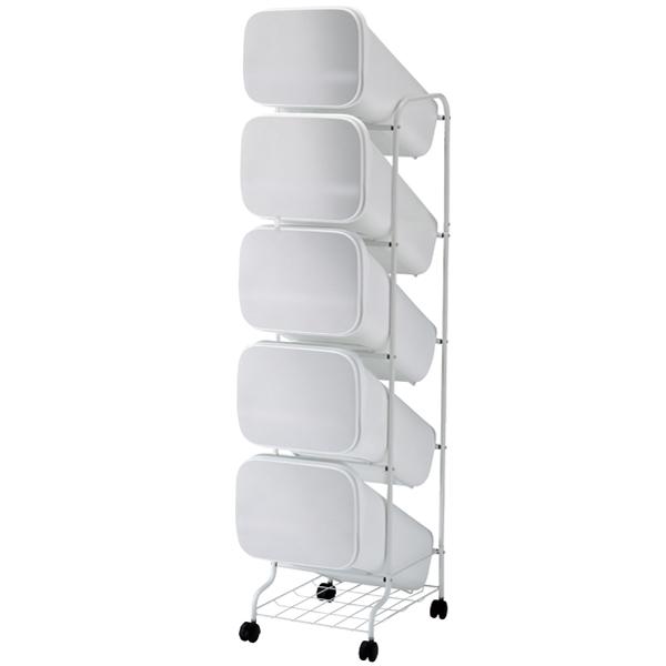 スムース 分別ごみ箱 5段 ダストボックス 100L メタル GBBH013【厨房館】