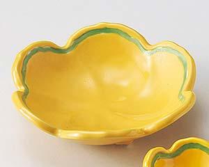 【まとめ買い10個セット品】和食器 オ013-316 黄釉グリーン梅型向付 【キャンセル/返品不可】【厨房館】