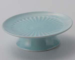 【まとめ買い10個セット品】和食器 ツ014-097 青白磁高台刺身鉢【キャンセル/返品不可】【厨房館】