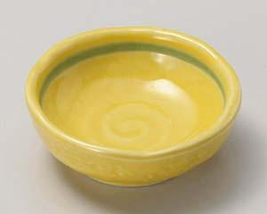 和食器 ア019-116 黄釉丸千代口