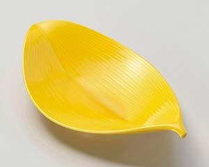 【まとめ買い10個セット品】和食器 ミ025-097 濃黄葉形 向付【キャンセル/返品不可】【厨房館】