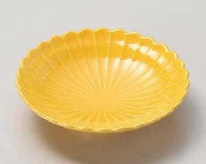 【まとめ買い10個セット品】和食器 ミ025-237 黄磁菊型5.3皿【キャンセル/返品不可】【厨房館】