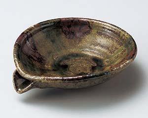 和食器 ウ041-026 三彩流し5.0片口平鉢