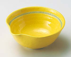 【まとめ買い10個セット品】和食器 ア042-157 黄釉片口小鉢【キャンセル/返品不可】【厨房館】