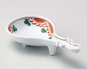 【まとめ買い10個セット品】和食器 ウ050-087 赤絵ビワ型小鉢【キャンセル/返品不可】【厨房館】