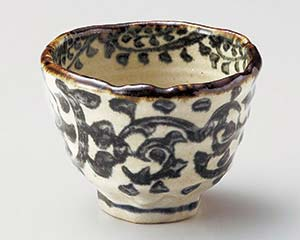 和食器 オ052-226 タコ唐草深口小鉢