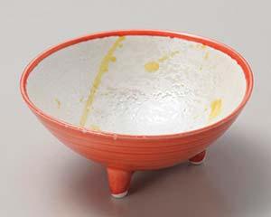 【まとめ買い10個セット品】和食器 ミ052-246 渕赤黄とばし 三ツ足小鉢 【キャンセル/返品不可】【厨房館】