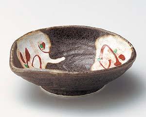 和食器 ミ052-266 かいらぎ風赤絵片口4.5鉢