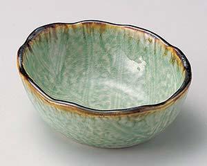 和食器 ト053-136 翠玉木の葉4.5寸小鉢