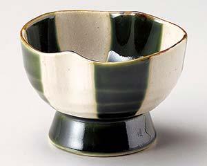 和食器 カ070-366 織部格子高台小鉢