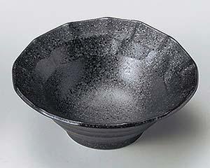 和食器 ア075-036 黒結晶面取小付 【キャンセル/返品不可】【厨房館】