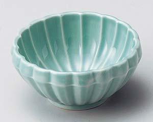 和食器 オ075-326 菊型ヒスイ珍味鉢 【キャンセル/返品不可】【厨房館】