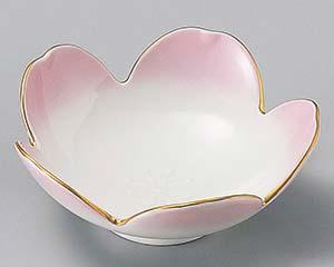 和食器 ツ093-096 渕金ピンク桜型小鉢